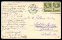 Lot 122 [2 of 2]:Switzerland: WFB coloured PPC of 'Zürich - Eidgen. Polytechnikum.', franked with 10c green William Tell x2, cancelled with double-circle 'ZÜRICH 1/21-22/24-VIII/1924