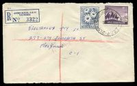 Lot 2617 [1 of 2]:Ashburton: - WWW #40A 'ASHBURTON S.E.11/30NO59/VIC-AUST' on 2/- Flannel Flower & 5d Christmas, on cover to Melbourne with blue C6 registration label. [Rated 2R]  PO 15/12/1927.