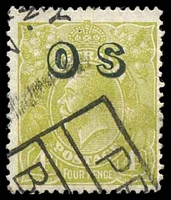 Lot 2770:4d Olive Overprinted 'OS' - BW #116(OS) Cat $25, slightly aged.