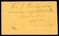 Lot 19909:1869 cover, cancelled with light 'ACTON/??11