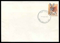 Lot 7823:Tindal R.A.A.F. P.O.: - double-circle 'POST OFFICE/29AUG1988/RAAF TINDAL N.T. 0853' opening day on 37c Kangaroo PSE, unaddressed.  PO 29/8/1988.