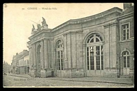 Lot 454:France: Deley black & white PPC of 'CORBIE - Hôtel-de-Ville'.