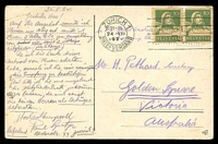 Lot 624 [2 of 2]:Switzerland: WFB coloured PPC of 'Zürich - Eidgen. Polytechnikum.', franked with 10c green William Tell x2, cancelled with double-circle 'ZÜRICH 1/21-22/24-VIII/1924