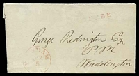 Lot 26051:1839 entire, cancelled with light 'P[OT]SDAM.APR/5/N.Y.' (B1) in red, to Waddington, straight-line 'FR