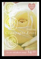 Lot 3719:1998 $4.50 Greetings - Champagne Roses BW #B234 45c x 10.