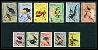 Lot 4516:1964-65 Birds SG #61-71 set of 11, Cat £14.