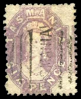 Lot 1803:1871-91 Chalon Wmk Double-Lined Numeral Perf 11½ SG #139 6d dull reddish lilac, Cat £40, slight discolouration near top.