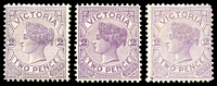 Lot 1953 [2 of 2]:1886-96 New Stamp Duty Designs Wmk 2nd V/Crown SG #314 2d violet, group of 6.