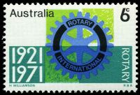 Lot 3457:1971 Rotary BW #557i Comet flaw left of 'T' of 'ROTARY' [RP 6/2].