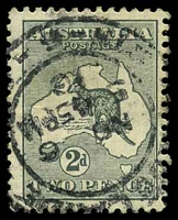 Lot 885:2d Grey Die I BW #7 Cat $15.