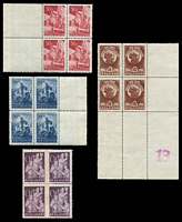 Lot 3578:1949 Fatherland Front SG #764-7 set of 4 in blocks of 4, Cat £12.