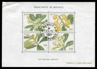 Lot 24968:1985 Flowers SG #1730 set of 4 in minisheet.