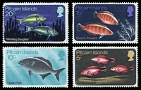 Lot 24570:1970 Fish SG #111-4 set of 4, Cat £11.