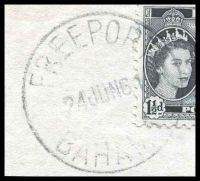 Lot 17816 [2 of 2]:Freeport: 'FREEPORT/24JUN61/BAHAMAS', on 1½d QEII Pictorial.