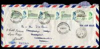 Lot 19806:Freeport: 'FREEPORT/23OCT65/BAHAMAS', on 2d High School x5 on air cover to Dorset, Great Britain