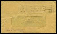 Lot 2501:Geelong (1): - 'GEELONG/VIC./6MAY/3D/ /PAID' (year omitted) machine, on window envelope.  PO c.-/6/1840; replaced by Geelong Business Centre BC 22/7/1994.