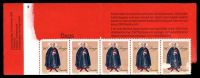 Lot 25632 [2 of 6]:1968-79 Group 1968 Wildlife with pane of 10, 1970 Industry with pane of 6 & 1979 Native Dress showing bottom half pane of 5, BRC with damage, all 3 booklet panes are stuck down in their covers.