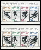 Lot 4008:1972 Munich Olympics Mi #684-7 minisheet, mint & FD cancelled, some light creasing.