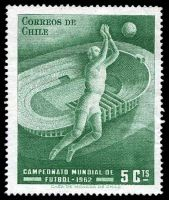 Lot 2 [2 of 3]:1962 World Cup Soccer: Chile 5c green, Albania set of 2 & Hungary 20f Jules Rimet & m/s.