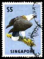 Lot 28011:1962-66 Flora & Fauna SG #77 $5 White-bellied Sea Eagle.