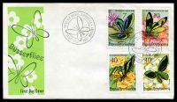 Lot 4163:1975 Butterflies set of 4 on unaddressed illustrated FDC, cancelled with 'PAPUA NEW GUINEA BUTTERFLIES/[butterfly]/11 JUNE 1975 PORT MORESBY' (A1).
