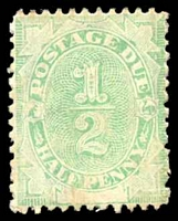 Lot 3806:1902 Converted NSW Plates BW #D1 ½d green, Cat $10, some mild toning.