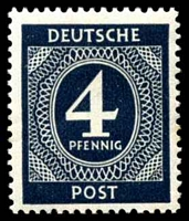 Lot 21721:1946 Numerals: Mi #914b 4pf black-blue.
