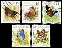 Lot 4238:1991-97 Butterflies SG #1635-44 simplified set of 5, Cat £11.50+.
