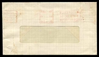 Lot 9279 [1 of 2]:Glenelg: 'PAID AT/STH 7DEC AUST/1961/GLENELG - PLEASE POST EARLY/BEFORE LUNCH &/BEFORE FOUR O'CLOCK' machine in red on window envelope, some toning.  PO 5/12/1849.