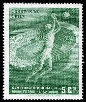 Lot 5 [2 of 3]:1962 World Cup Soccer: Chile 5c green, Albania set of 2 & Hungary 20f Jules Rimet & m/s.