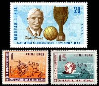 Lot 5 [3 of 3]:1962 World Cup Soccer: Chile 5c green, Albania set of 2 & Hungary 20f Jules Rimet & m/s.