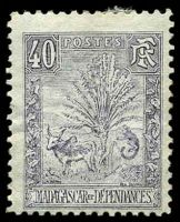 Lot 25437:1903 Zebu & Lemur SG #47 40c grey-lilac, Cat £55.