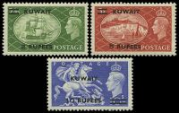 Lot 4071 [2 of 2]:1950-54 Great Britain KGVI Overprinted SG #84-92 set of 9, Cat £90.