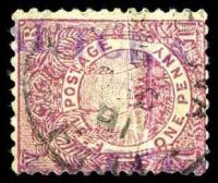 Lot 3734:Lautoka: straight-line '[LA]UTOKA/[??D]ECEM[BER]' in purple, on 1d rosy-mauve, overstruck with DEC/01.  Renamed from Namoli PO c.-/6/1901.