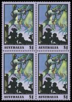 Lot 3665:1991 Golden Days of Radio BW #1525x $1 block of 4 with 'SPECIMEN' opts, Cat $10.