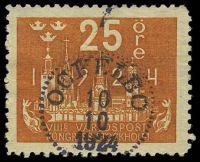 Lot 4467:1924 World Postal Congress SG #150 25ö orange, Cat £23, cancelled with dotted circle 'OCTELBO/10/10/1924' (B1).