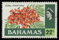 Lot 3330:1971 QEII Pictorials SG #371 22c Royal Poinciana, Cat £12.