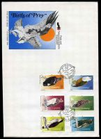 Lot 29392:1984 Birds set of 6 on unaddressed illustrated FDC.