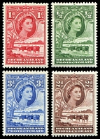 Lot 3537 [2 of 2]:1955-58 QEII Pictorials SG #143-9 short set to 1/-, Cat £16. (8)
