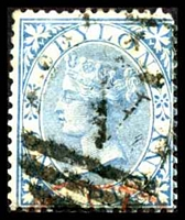 Lot 18168:1866-68 Wmk Crown/CC Perf 14 SG #61 1d blue, Cat £10.