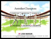 Lot 23:Australia - Exhibition: 1984 Ausipex - Australian Champions Cricket minisheet.