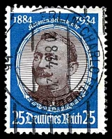 Lot 4079:1934 Colonists Mi #543 25pf blue & dark brown Wissman, Cat €26.