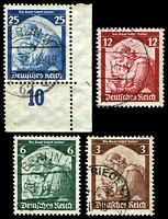 Lot 4080:1935 Saar Restoration Mi #565-8 set of 4, Cat €13.