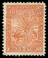 Lot 4300:1903 Zebu & Lemur SG #46 30c vermilion, Cat £46.