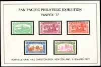 Lot 23515:1977 Panpex souvenir card.