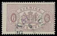 Lot 4194:1874-93 Arms & Numerals: SG #O31 6ö violet, P13, Cat £75.