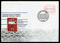 Lot 28894:1985 Vending Machine Labels .26c franking on illustrated FDC, Cat #.