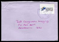 Lot 5385:2000 Paralympic Games label, cancelled with poor Dandenong of 12SEP2000, on cover to Blackburn.