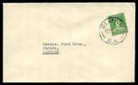 Lot 9605:Glenelg: - 'GLENELG/545P1NO41/S.A.', on 1d green QM, on cover to Norwood.  PO 5/12/1849.