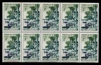 Lot 25561:1955 Albert Schweitzer 2f horizontal block of 10, SG #504.